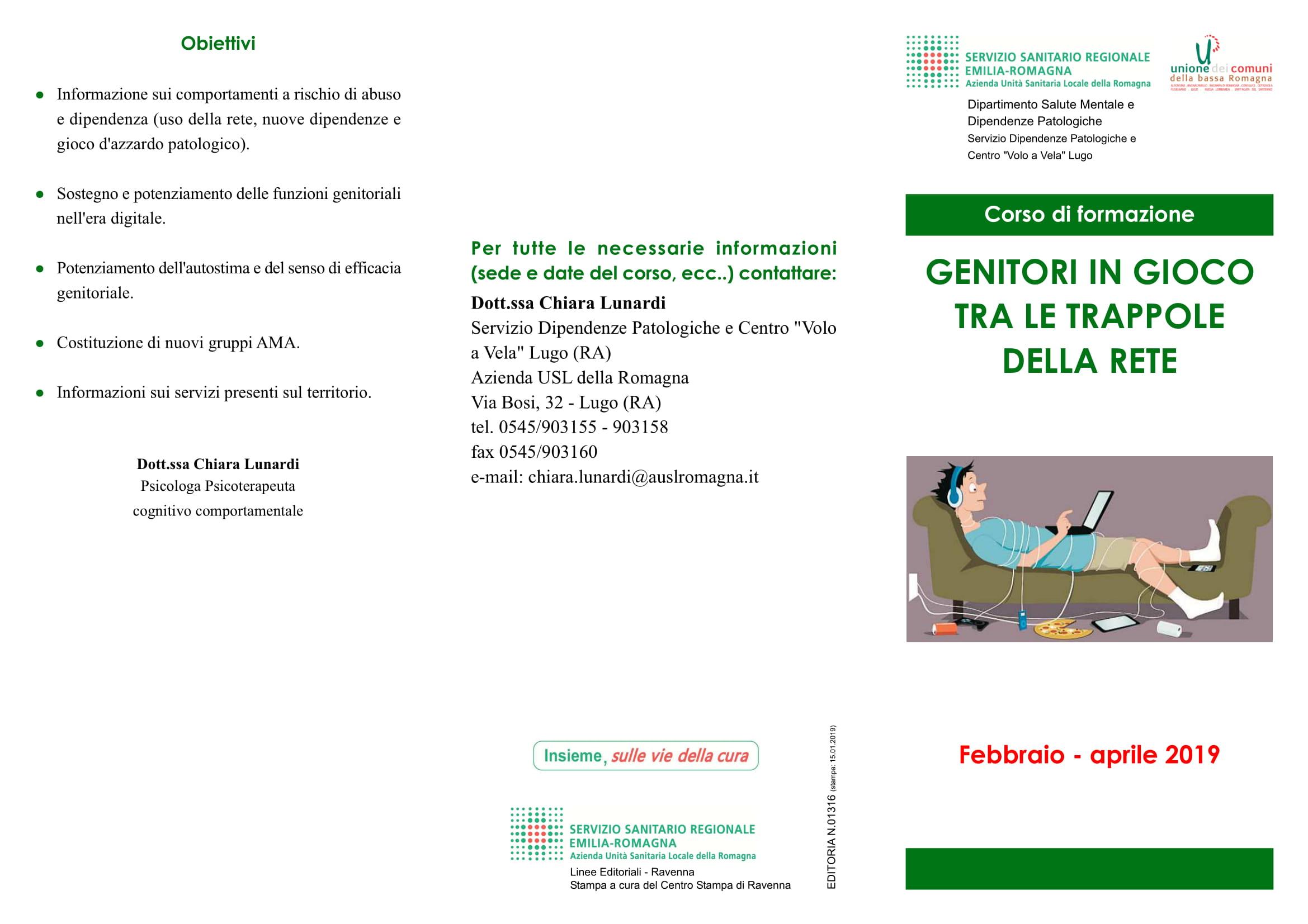 Unione Gioco Patologico E Nuove Dipendenze Al Via Un Corso Di Formazione Per Genitori Di Adolescenti Auser Ravenna